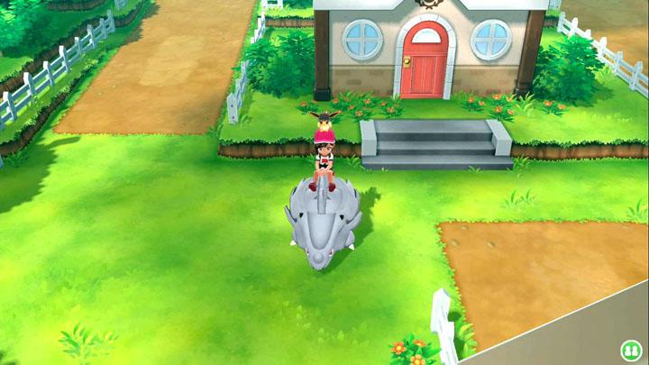 Monture Rhinocorne Pokémon Let's Go Pikachu et Évoli