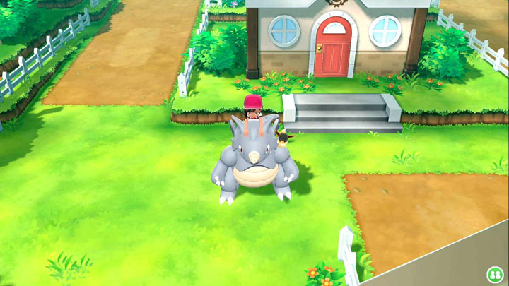 Monture Rhinoféros Pokémon Let's Go Pikachu et Évoli