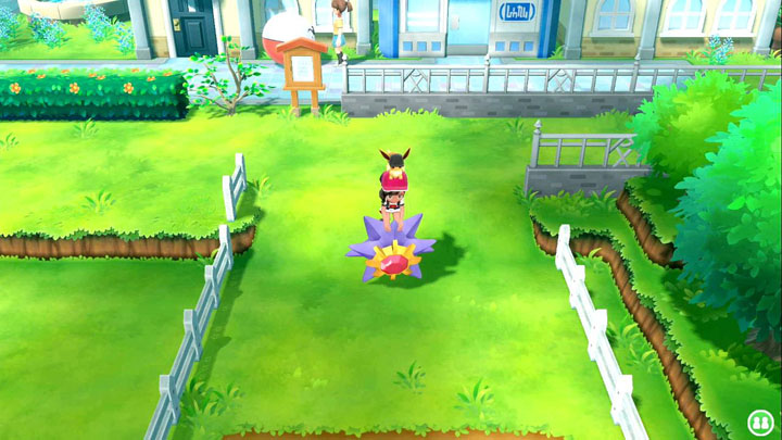 Monture Staross Pokémon Let's Go Pikachu et Évoli