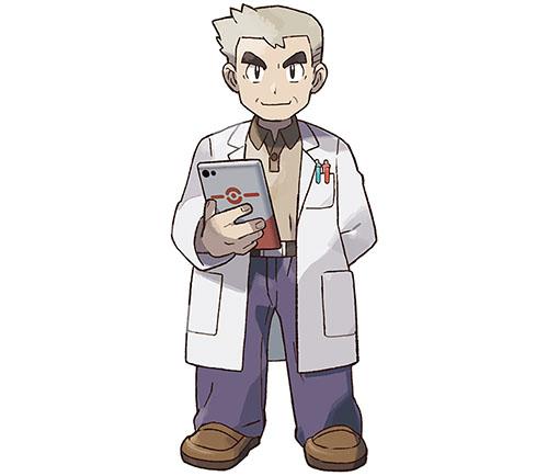 Professeur Chen Pokémon Let's Go Pikachu et Évoli