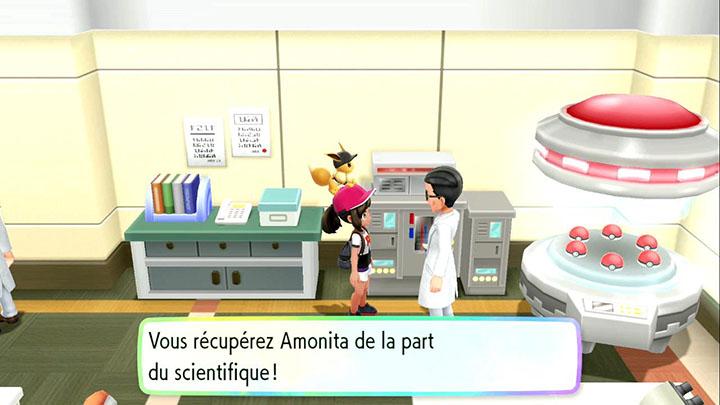 Amonita - Pokémon offert à Cramois'Île - Pokémon Let's Go Pikachu et Pokémon Let's Go Évoli