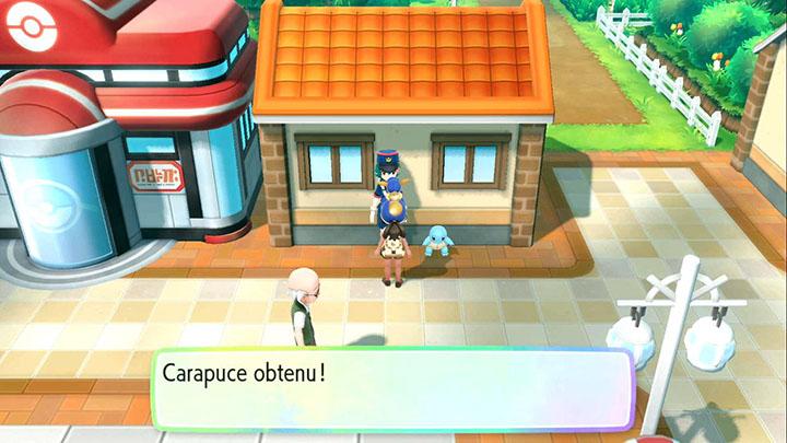 Carapuce - Pokémon offert à Carmin sur Mer - Pokémon Let's Go Pikachu et Pokémon Let's Go Évoli