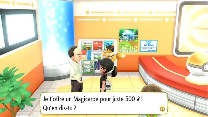 Magicarpe - Pokémon offert Route 4 - Pokémon Let's Go Pikachu et Pokémon Let's Go Évoli