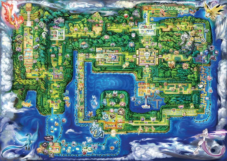 Guide des lieux - Pokémon Let's Go Pikachu et Let's Go Évoli