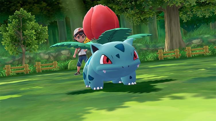Screenshot Pokémon Let's Go Pikachu et Évoli