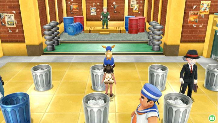 Arène de Carmin sur Mer Pokémon Let's Go Pikachu et Let's Go Évoli