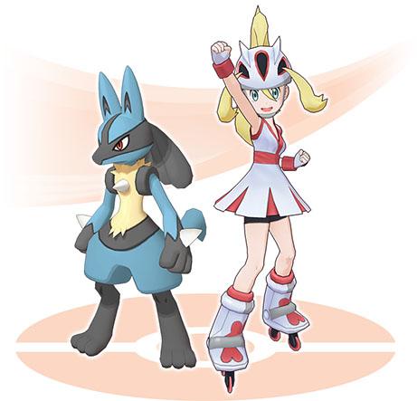 Duo Cornélia et Lucario Pokémon Masters