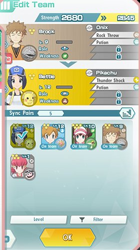 Screenshot Pokémon Masters