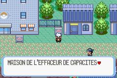Effaceur de Capacité Pokémon Rubis et Saphir