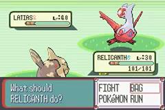 Capturer Latias Pokémon Rubis et Saphir