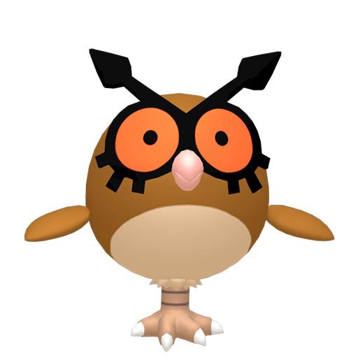 Modèle de Hoothoot - Pokémon GO