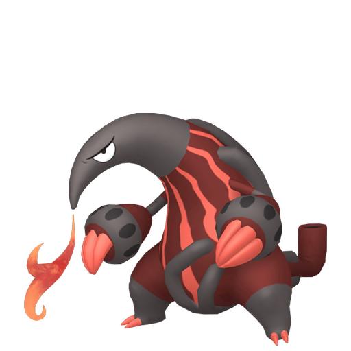 Artwork shiny de Aflamanoir Pokémon Épée et Bouclier