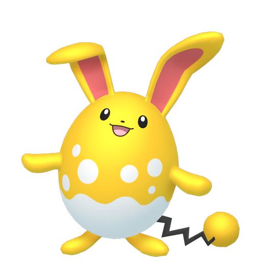 Artwork shiny de Azumarill Pokémon Épée et Bouclier