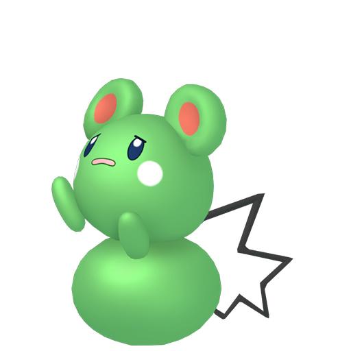 Artwork shiny de Azurill Pokémon Épée et Bouclier