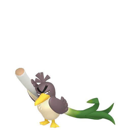 Artwork shiny de Canarticho de Galar Pokémon Épée et Bouclier