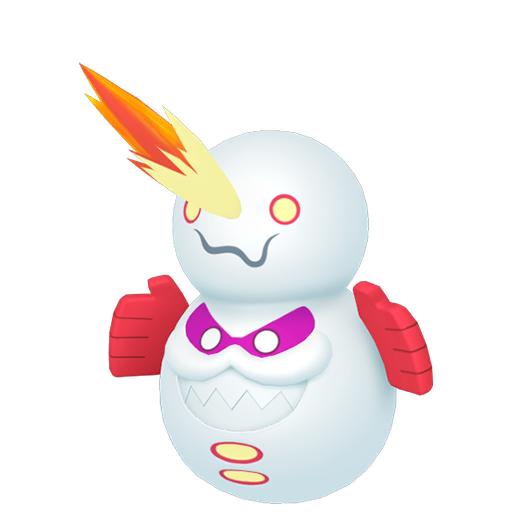 Artwork shiny de Darumacho de Galar mode Transe Pokémon Épée et Bouclier