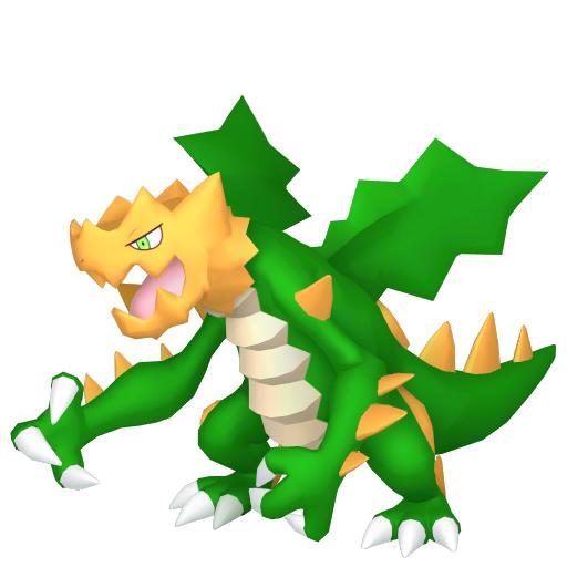 Artwork shiny de Drakkarmin Pokémon Épée et Bouclier