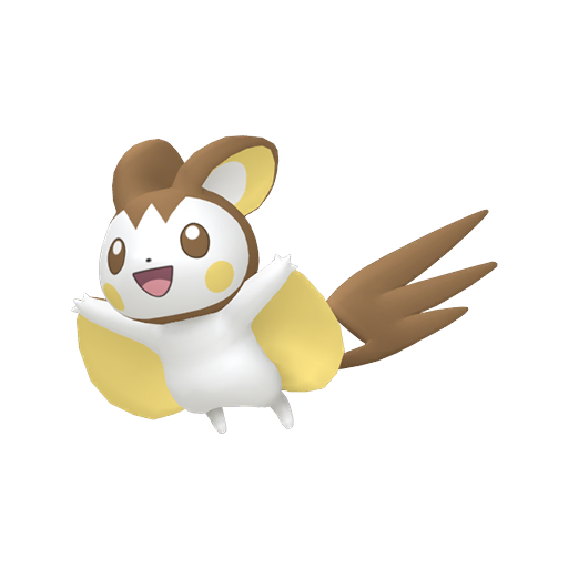 Artwork shiny de Emolga Pokémon Épée et Bouclier