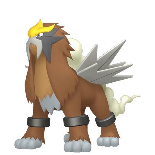 Artwork shiny de Entei Pokémon Épée et Bouclier