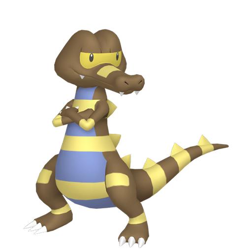 Artwork shiny de Escroco Pokémon Épée et Bouclier