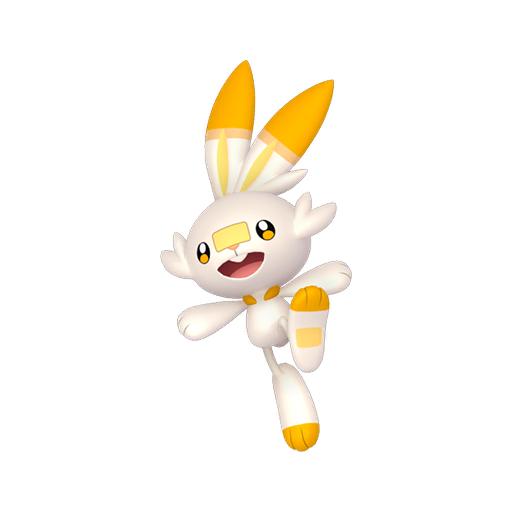 Artwork shiny de Flambino Pokémon Épée et Bouclier