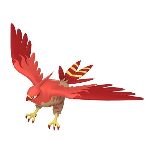 Artwork shiny de Flambusard Pokémon Épée et Bouclier