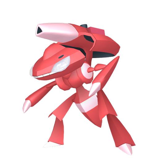 Artwork shiny de Genesect Module Pyro Pokémon Épée et Bouclier