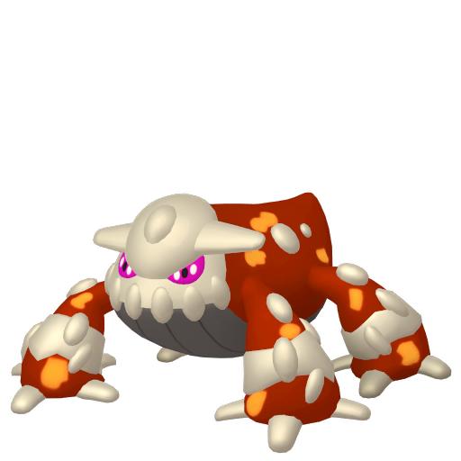 Artwork shiny de Heatran Pokémon Épée et Bouclier