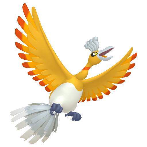 Artwork shiny de Ho-Oh Pokémon Épée et Bouclier
