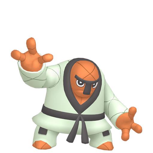 Artwork shiny de Judokrak Pokémon Épée et Bouclier