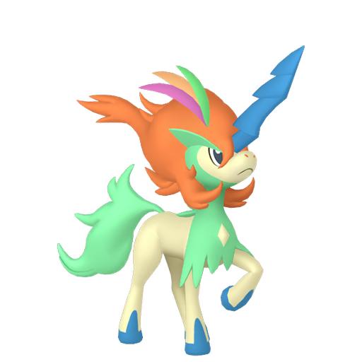 Artwork shiny de Keldeo Aspect Décidé Pokémon Épée et Bouclier