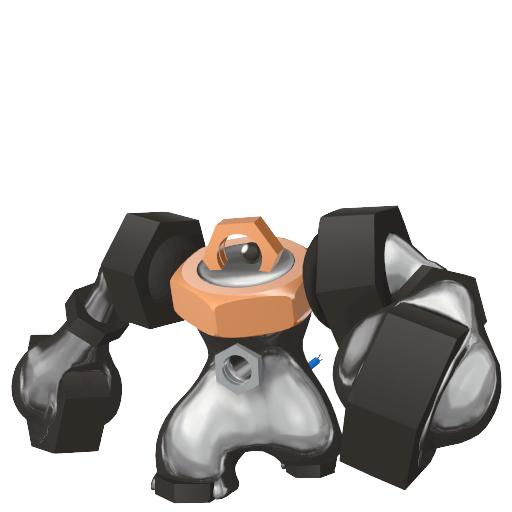 Artwork shiny de Melmetal Pokémon Épée et Bouclier