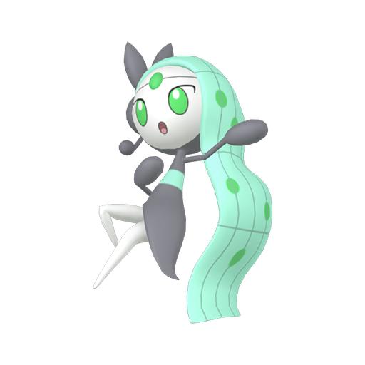 Artwork shiny de Meloetta Pokémon Épée et Bouclier