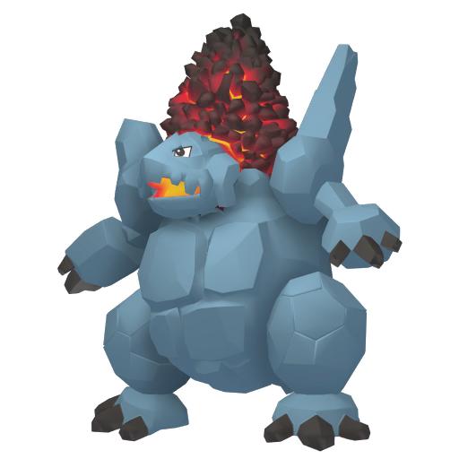 Artwork shiny de Monthracite Pokémon Épée et Bouclier