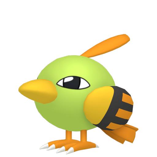 Artwork shiny de Natu Pokémon Épée et Bouclier