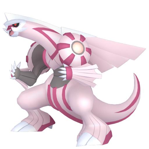 Artwork shiny de Palkia Pokémon Épée et Bouclier