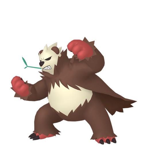 Artwork shiny de Pandarbare Pokémon Épée et Bouclier