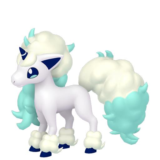Artwork shiny de Ponyta de Galar Pokémon Épée et Bouclier