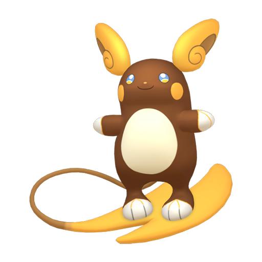 Artwork shiny de Raichu d'Alola Pokémon Épée et Bouclier