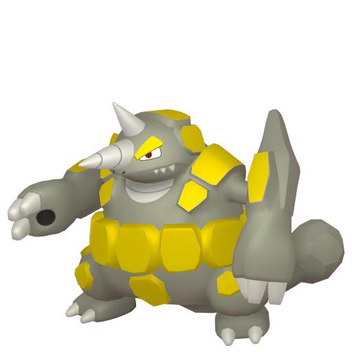 Artwork shiny de Rhinastoc Pokémon Épée et Bouclier