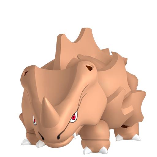 Artwork shiny de Rhinocorne Pokémon Épée et Bouclier