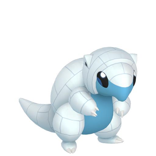Artwork shiny de Sabelette d'Alola Pokémon Épée et Bouclier