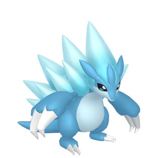 Artwork shiny de Sablaireau d'Alola Pokémon Épée et Bouclier