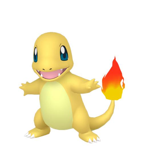 Artwork shiny de Salamèche Pokémon Épée et Bouclier