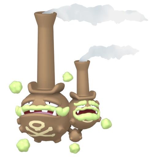 Artwork shiny de Smogogo de Galar Pokémon Épée et Bouclier