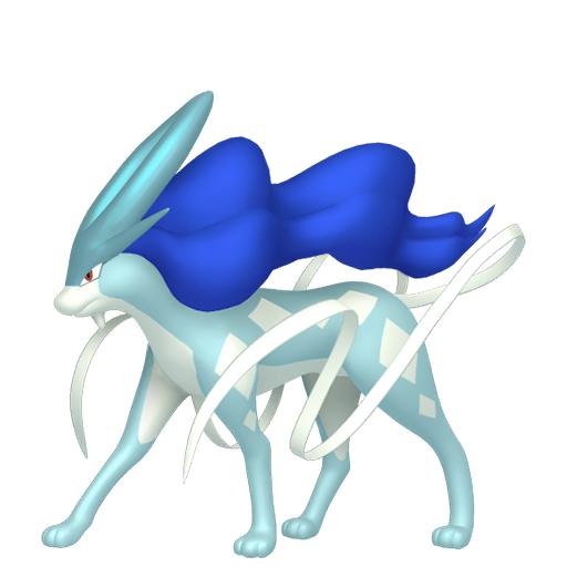 Artwork shiny de Suicune Pokémon Épée et Bouclier