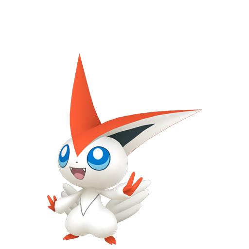 Artwork shiny de Victini Pokémon Épée et Bouclier