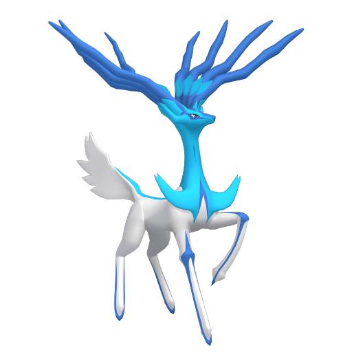 Artwork shiny de Xerneas forme Paisible Pokémon Épée et Bouclier