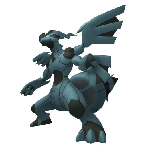 Artwork shiny de Zekrom Pokémon Épée et Bouclier
