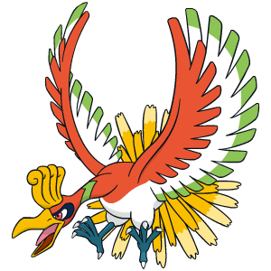 Ho-Oh Pokémon Ultra-Soleil et Ultra-Lune